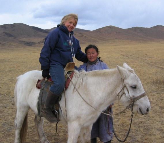 Frances on Horse
